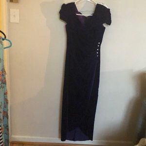 Dresses & Skirts - Velvet bridesmaid dress or for any occasion